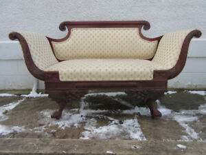 Beautifully Carved Antique (c1920) Sofa Length-55""