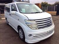 2003/03 NISSAN ELGRAND RIDER PEARL LEATHER SEAT DOUBLE SUNROOF 4WD