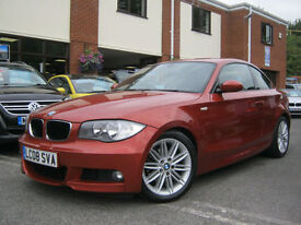 2008 08-Reg BMW 120d M Sport Coupe,GEN 75,000 MILES,SEDONA RED,MUST SEE!!!