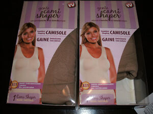 """2 (Two) """"Genie Cami Shaper"""" New in Boxes Size L"""