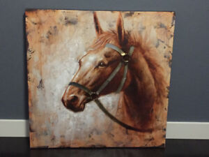 Metal + Canvas Horse Painting