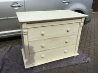 WHITE/IVORY CHEST OF DRAWERS