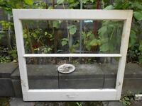 1950's WINDOWS WOOD FRAME ORIGINAL  2 Pane Qty 4