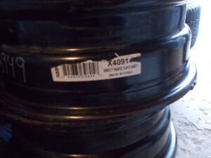 For sale    4  black  steel  rims  16  in  fits   toyota