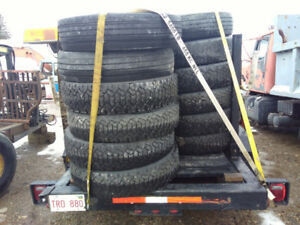 30 Plus Truck Tires 22.5 Take off's
