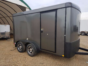 New 2017 H&H Charcoal 7x12 enclosed cargo trailer