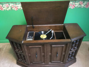 Garrard Record Player And Stereo