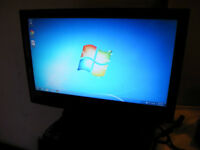 "Used 24"" Dynex LCD TV /Monitor for Sale"
