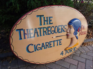 Tobacco advertisng sign, cigarette sign, theatre sign, vintage s