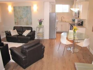 1 bedroom suite - fully furnished, clean, quiet, central