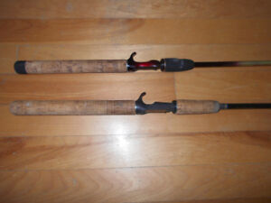 2 Cannes Baitcaster, 45$ chauques, 2 Baitcaster fishing rods
