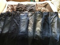 Huge bundle women's jeans and trousers size 14