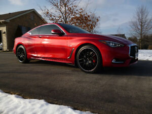 2017 Infiniti Q60 Red Sport 400 Coupe  ONLY 9000 km A MUST SEE