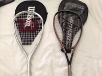 Ladies and gents squash racquets