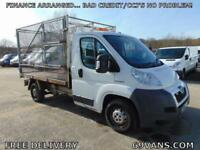 2009 PEUGEOT BOXER TIPPER, CAGE SIDES, 1 COUNCIL OWNER, ONLY 69400 MILES