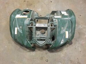 yamaha grizzly FRONT FENDER PLASTIC (GREEN )10/08/14