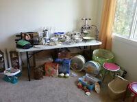 Indoor Garage Sale!!  New and Used Items!