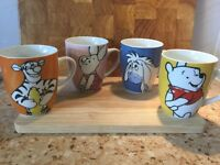 Set of 4 Disney Mugs