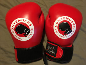 boxing gloves 16oz sparring red