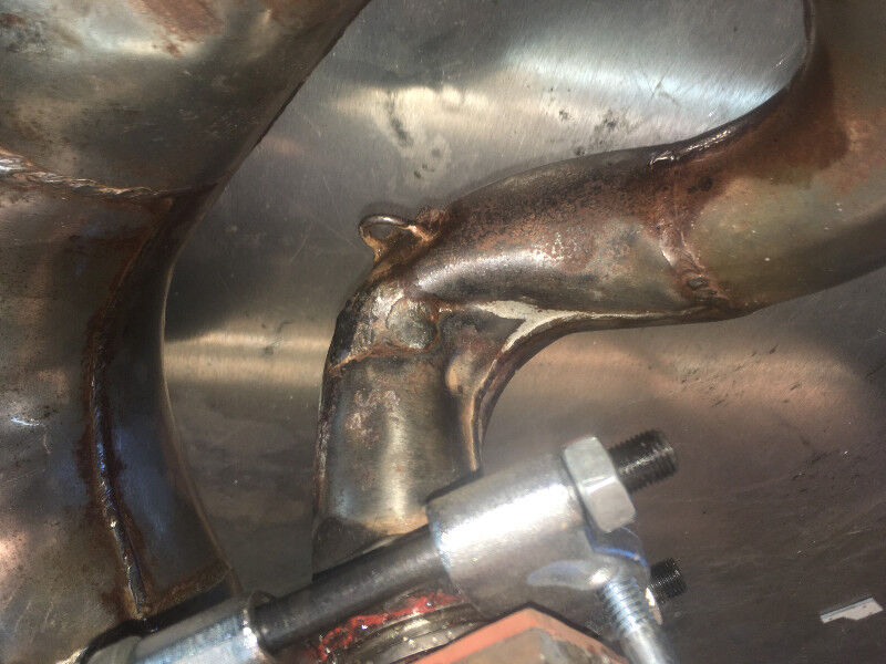 2 stroke expansion chamber and 4stroke head pipe repair  | Dirt