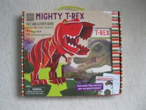 Mighty T-Rex/Stegosarus Fact And Activity Book (Brand New!)