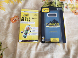 Otterbox Defender Case and Alpha Glass screen protector Samsung