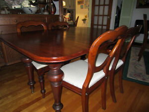Antique mahogany table /chairs