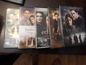 All 5 twilight dvds