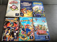 6 MANUELS GAMECUBE MARIO PARTY SMASH BROS ZELDA KIRBY MEGAMAN ++