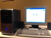 Complete HP Desktop Computer Package with Monitor