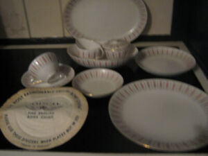 Tuscan fine English kitchen ware set, 1950, gold ornement