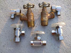 Valves a souder et compression  Brass et Chrome