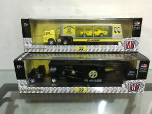 m2 machines auto haulers moon eyes set of 2 Rare find On Opened