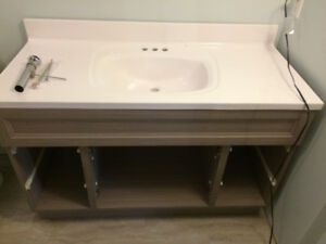 BRAND NEW - White Cultured Marble Bathroom Vanity Counter