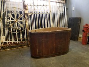 Primitive wooden  bath tub