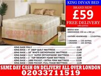 **Brand New King Size Divan Bed Available With Mattress** Prospect