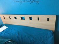 Slumber land divan bed with memory foam mattress and beech headboard