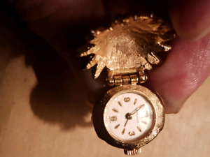 Rare vintage antique swiss carevelle wind up dial ring watch