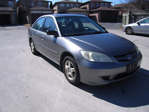2005 Honda Civic 4 door STANDARD only 220 k E-TEST/ REDUCED