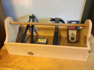 Wooden Tool Caddy with New Tools