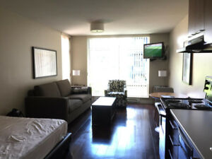 All-inclusive Furnished Studio Apartment in Downtown Vancouver