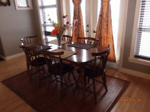 Vintage Vilas Maple Dining Table W 6 Chairs