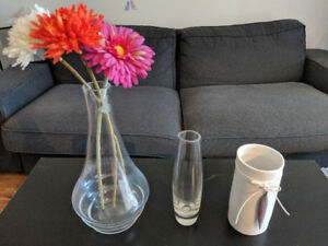 Glass and ceramic Flower Vase (FOR SALE - $3 each)