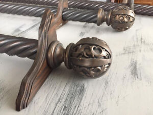Ornate Wood Drapery Rods