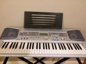 Casio CTK591 Full-Size 61 piano Keyboard w/ stand, recordings