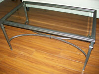 Coffee Table metal frame with glass top