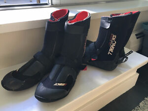 O'Neill surf booties, size 7, 2 pairs