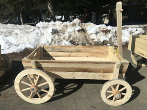Hand crafted pull Wagon Planter