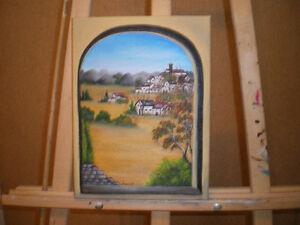 Peintures à l'huile encadrées