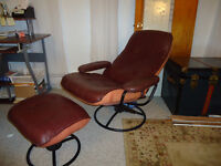 Recliner partially leather,good condition